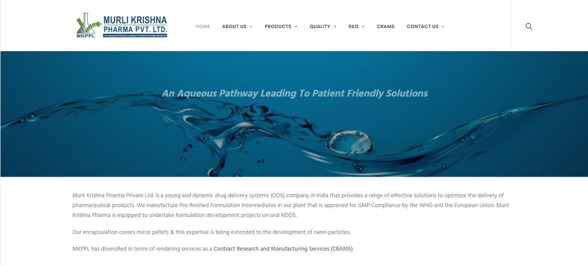 Murli Krishna Pharma   Manufacturer of Pre-finished formulation
